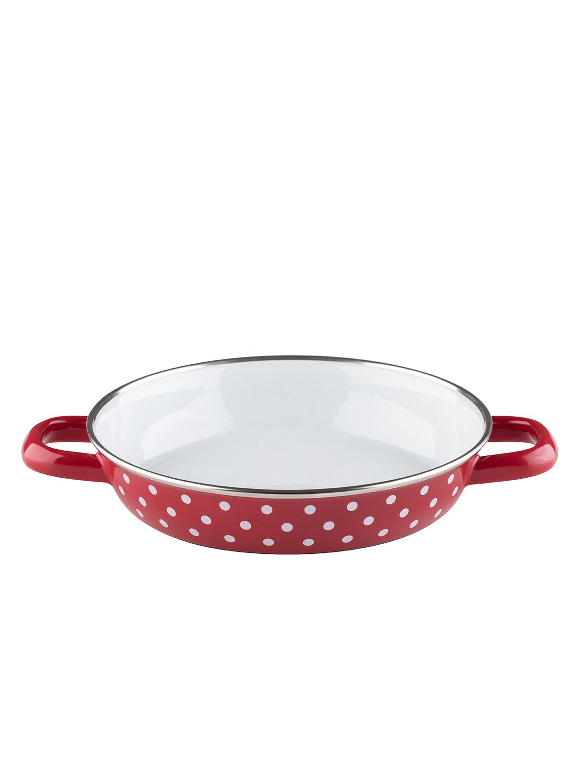 egg casserole red with white points 20 cm (0044-77)