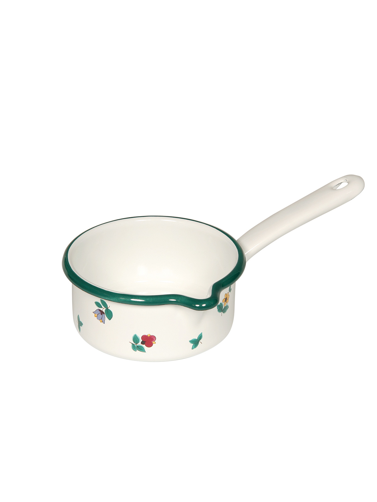 saucepan with spout with flowers 0.75l (0036-49)